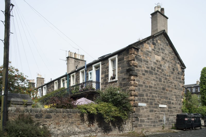 General view of 1-8 Rosebank Cottages, Gardner's Crescent, Edinburgh, taken from the south-west.