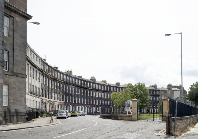 General view of Gardner's Crescent, Edinburgh, taken from the north.