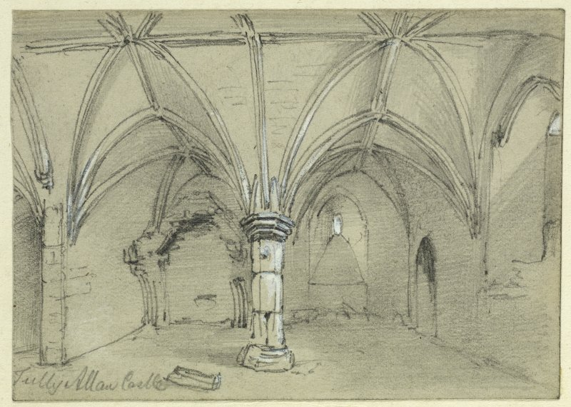 Drawing of interior of Tulliallan Castle.