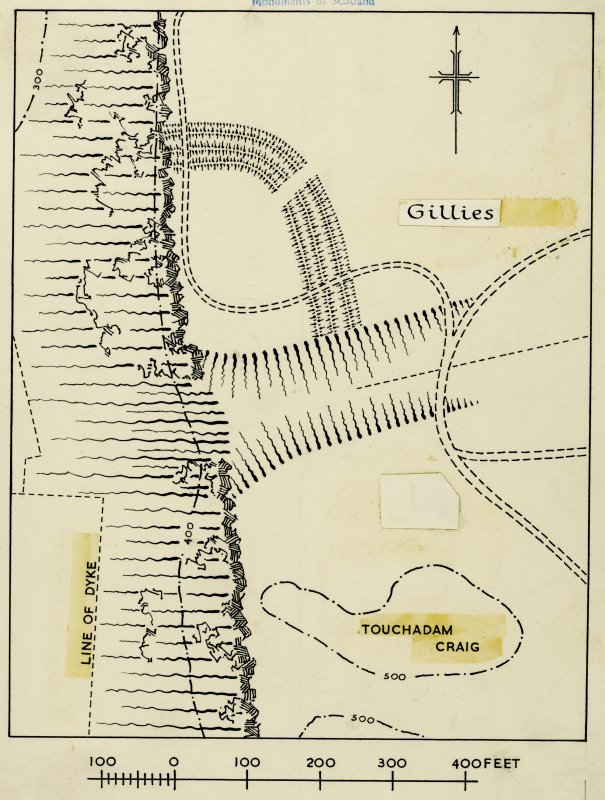 Publication drawing; fort, Gillies Hill.
