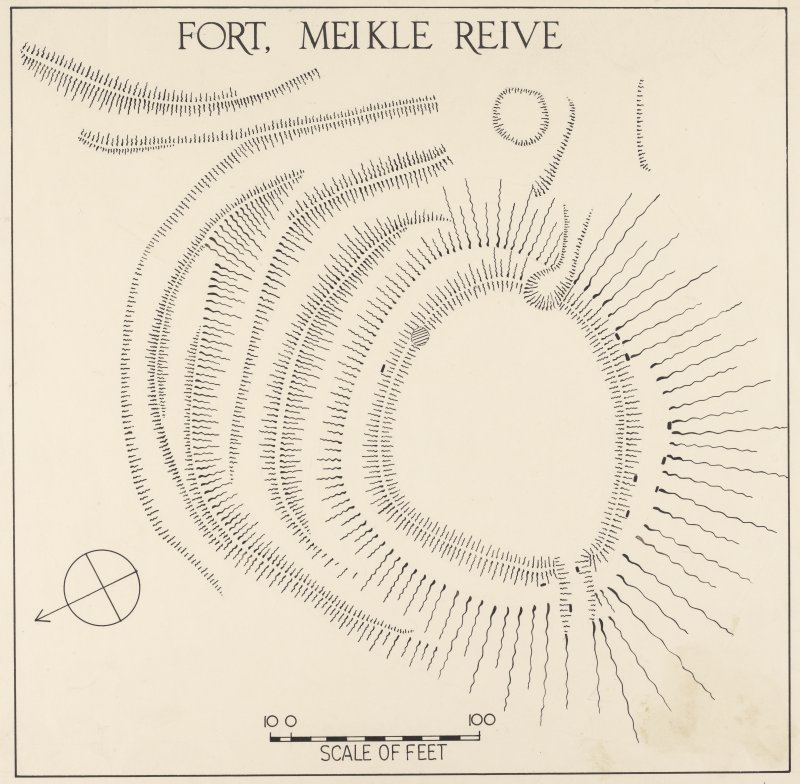 Plan of fort, Meikle Reive. Alternative version.