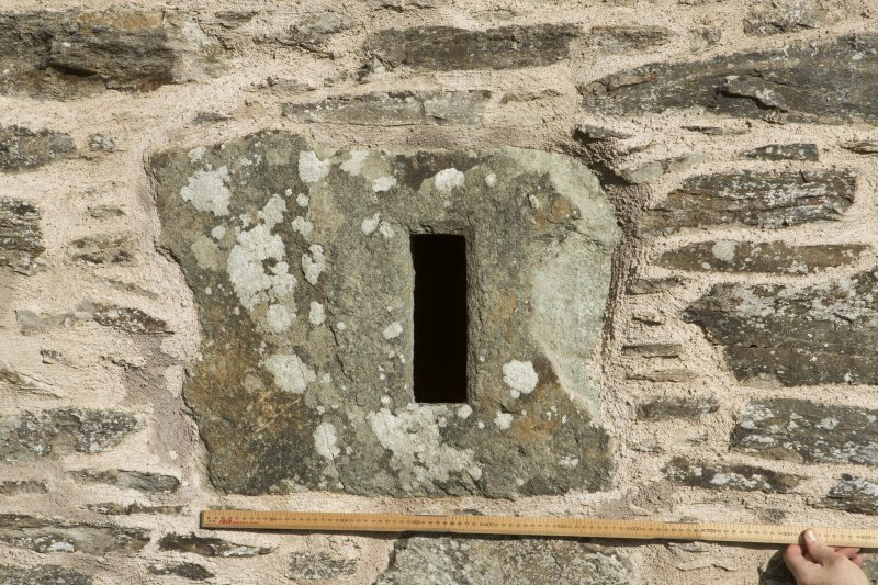 Detail of small monolithic window. (with scale.)