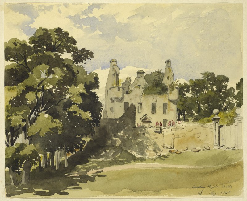 Drawing of Royston Castle.