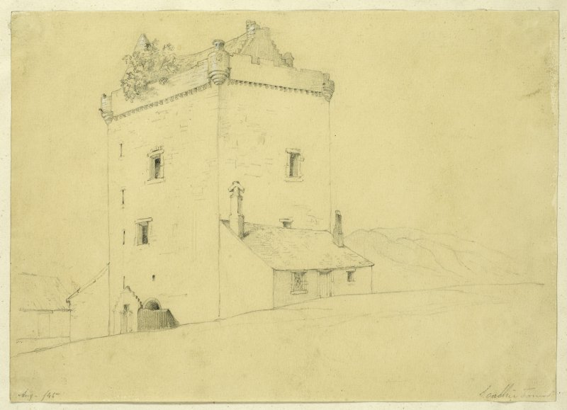 Drawing of Sauchie Tower.