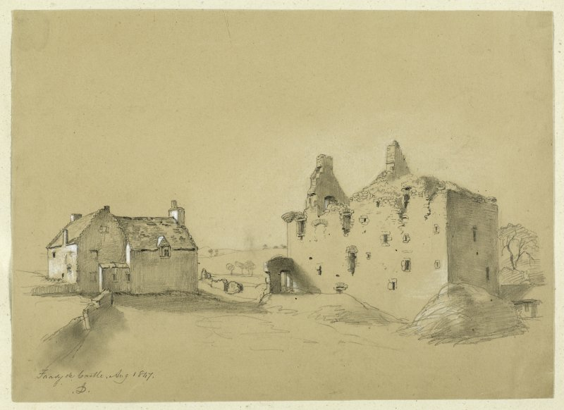 Drawing of Falside Castle