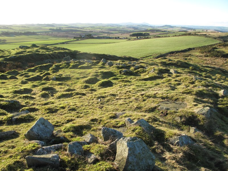Drumcarrow Craig broch; view of enclosure immediately to the west of the broch.