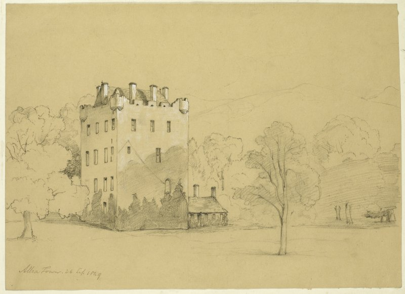 Drawing of Alloa Tower.