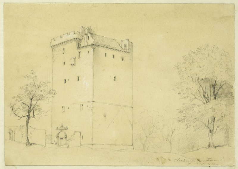Drawing of Clackmannan Tower.