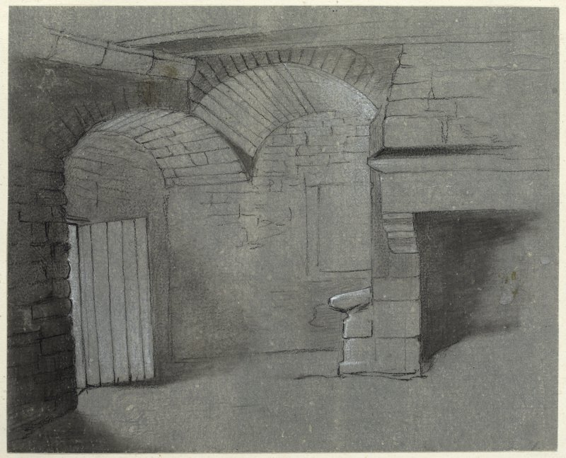 Drawing of interior of Sauchie Tower.