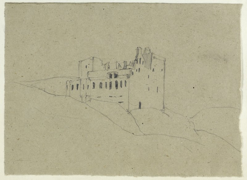 Drawing of Crichton Castle.