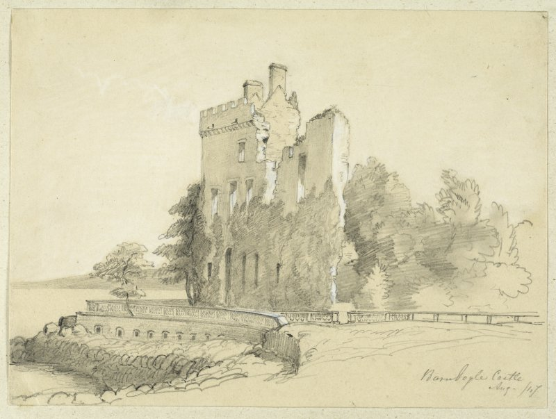 Drawing of Barnbougle Castle