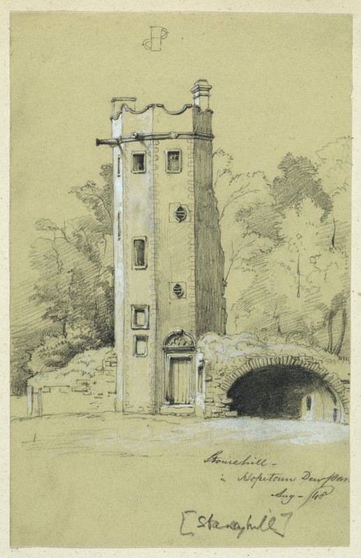 Drawing of Staneyhill Tower