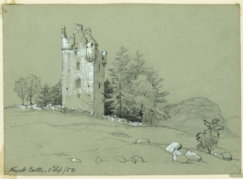 Drawing of Knock Castle.