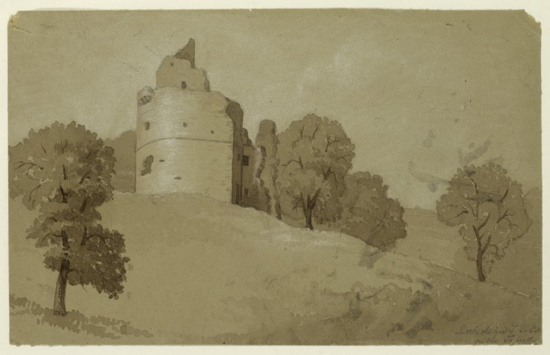 Drawing of Littledean Tower.