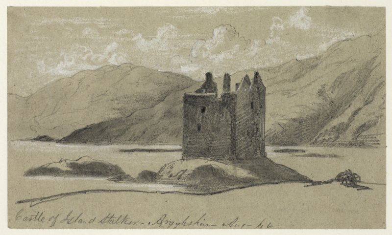 Drawing of perspective view of Castle Stalker
