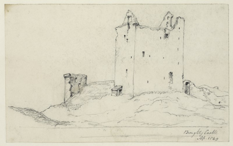Drawing of Broughty Castle.