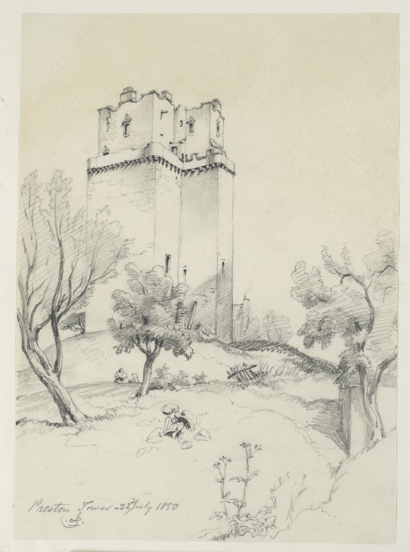 Drawing of perspective view of Preston Tower
