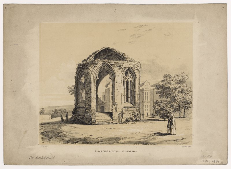 View of Blackfriars' Chapel, St Andrews.