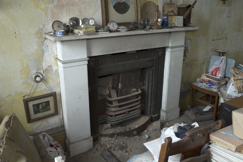 1st floor, drawing room, view of fireplace on north east wall