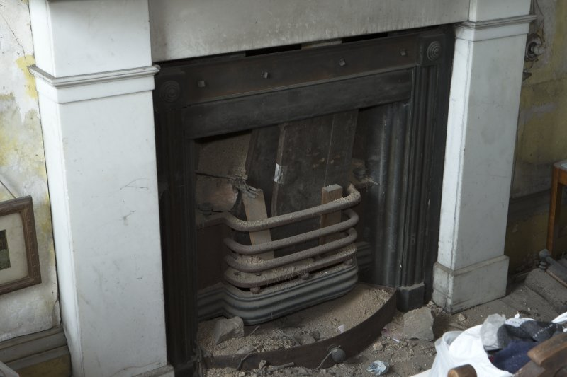1st floor, drawing room, detail of fireplace