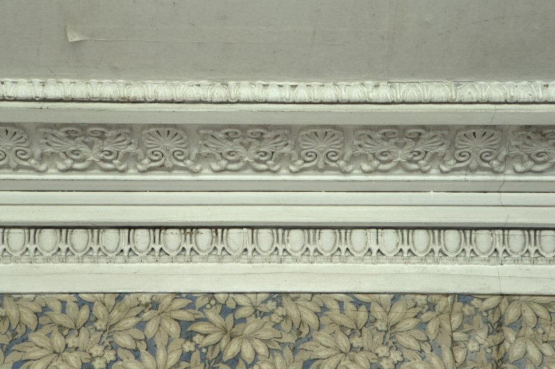 Ground floor, dining room, detail of cornice