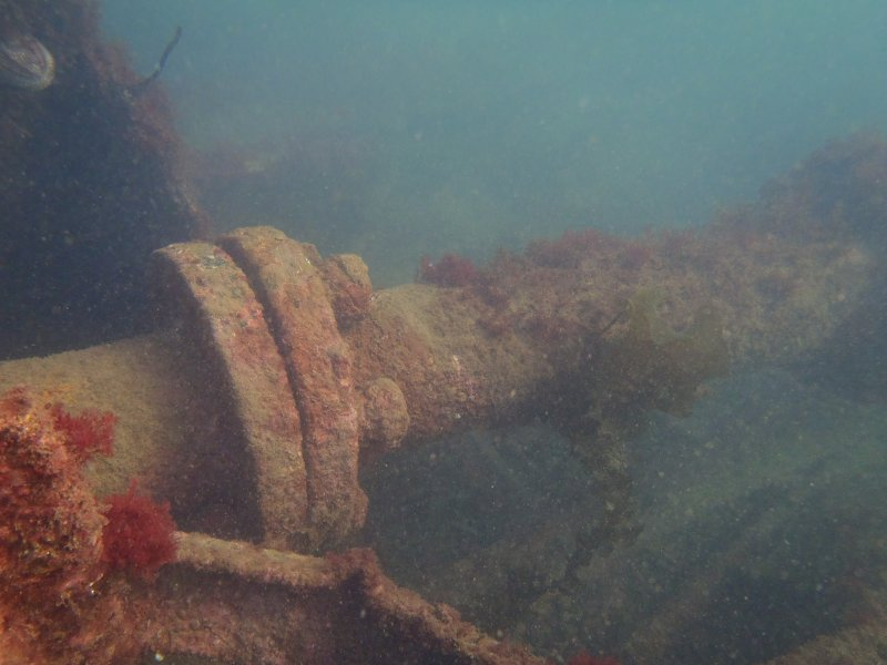 View of propellor shaft on steamship Gartmore