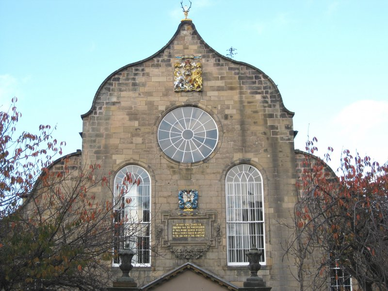 General view of south elevation of Canongate Parish Church, Edinburgh.