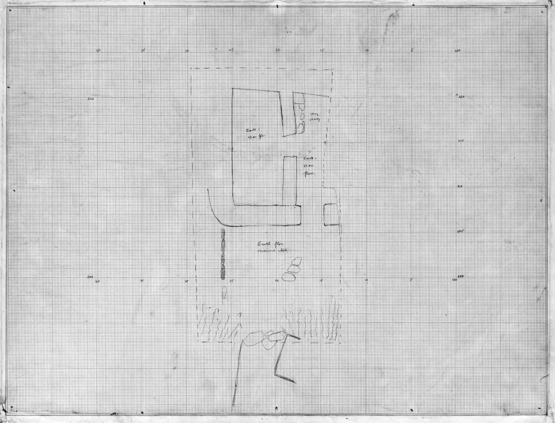 Excavation drawing : plan of Ugadale fort, Kintyre.