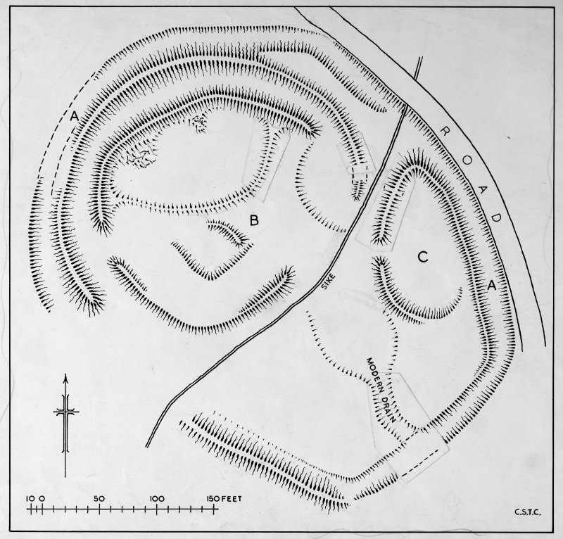 Publication drawing; plan of the earthwork at The Dod.
