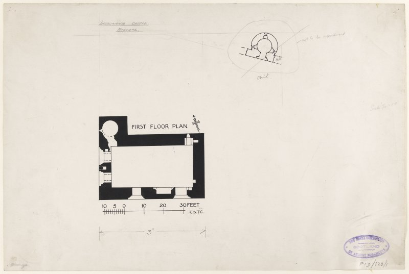 Plan, 1st floor RCAHMS 1925