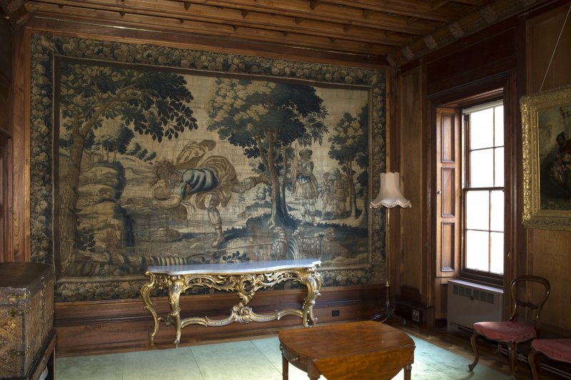 1st floor, drawing room, view of tapestry on east wall