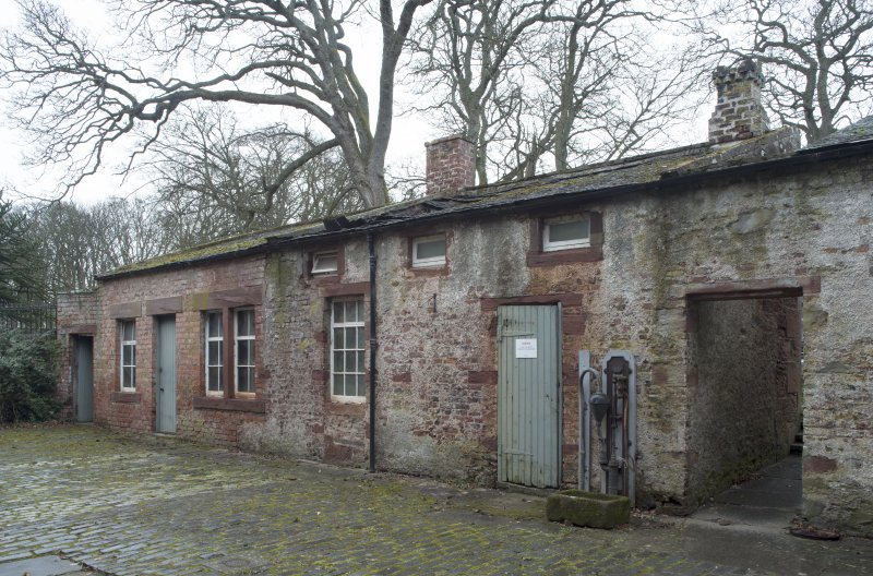 Rear courtyard, view of store rooms
