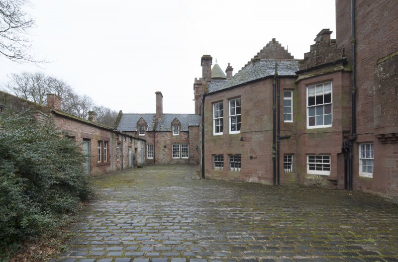 Rear courtyard, view from west