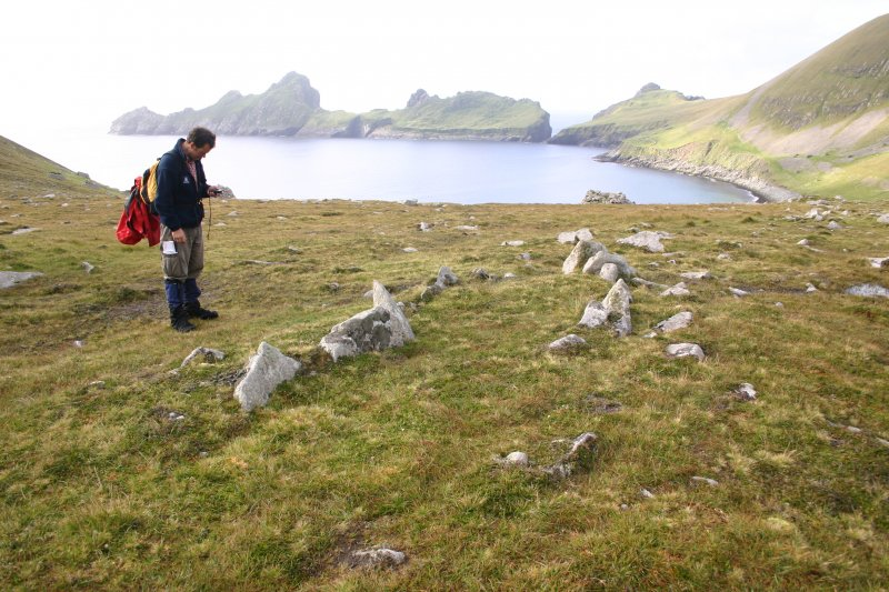 General view of stone setting, An Lag, Hirta, St Kilda.