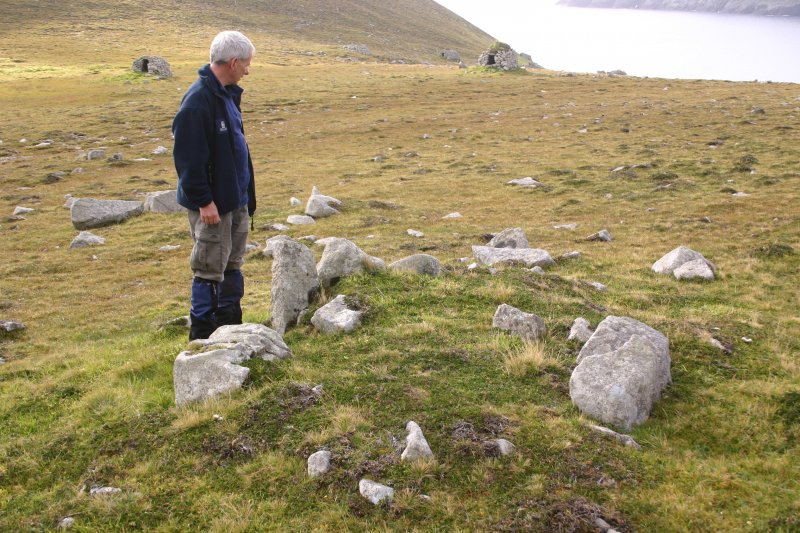 General view of stone setting, An Lag, Hirta, St Kilda