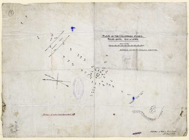 'Plan of the Callernish Stones'. [Surveyed 11 August 1885]