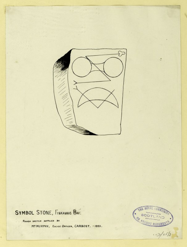 Symbol Stone, Fiskavoag Bay: rough sketch supplied by Mr Murphy, Excise Officer, Carbost.
