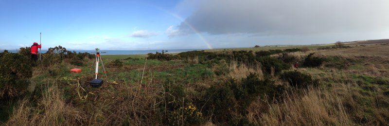 Cnoc Tigh, panoramic working shot taken during survey.