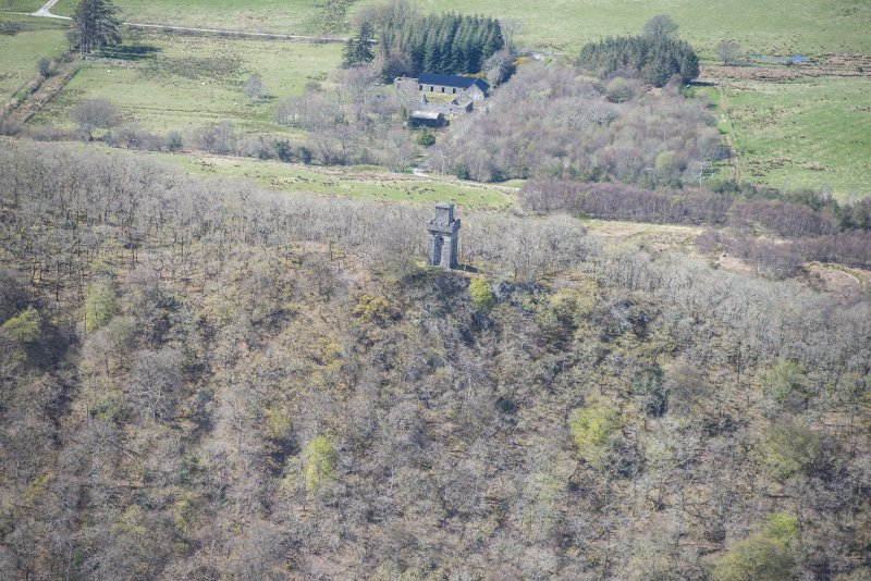 Oblique aerial view of Lady Margaret's Tower Observatory, looking NW.
