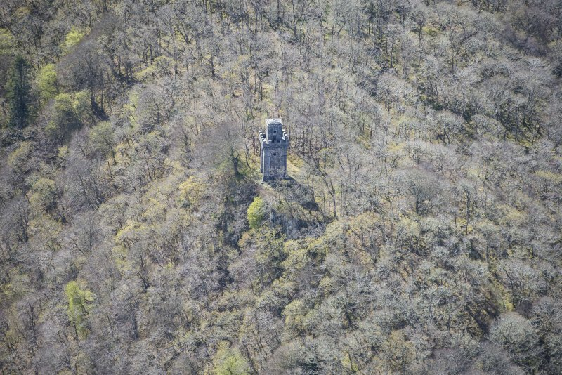 Oblique aerial view of Lady Margaret's Tower Observatory, looking WSW.