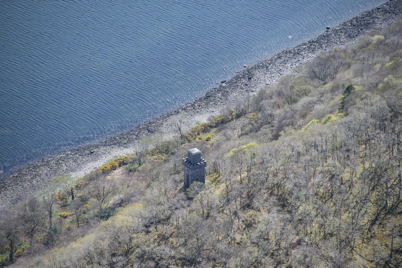 Oblique aerial view of Lady Margaret's Tower Observatory, looking SE.