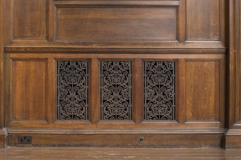 Level 3, great hall, detail of radiator grill
