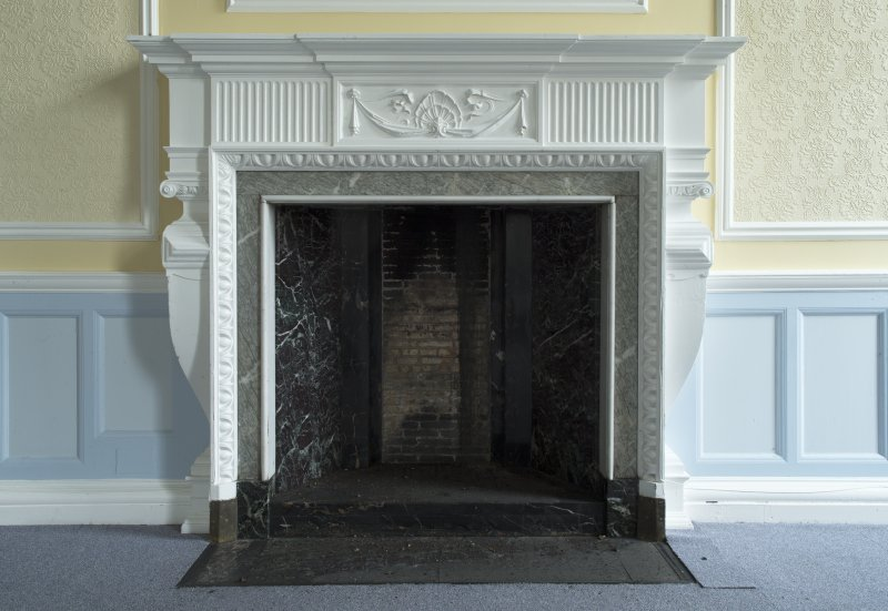 Level 3, south wing, drawing room, detail of fireplace