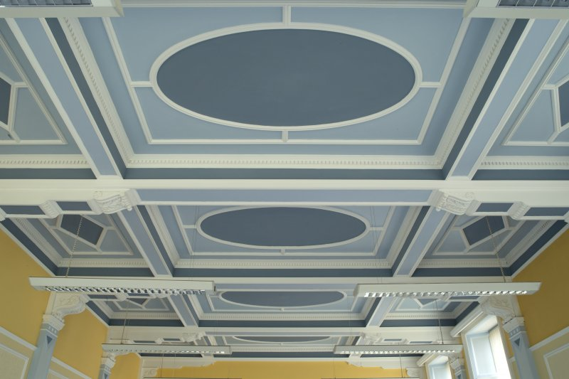 Level 3, south wing, drawing room, view of ceiling