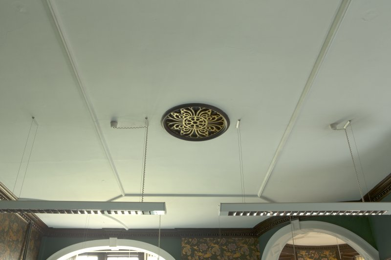 Level 3, south wing, billiard room, view of ceiling with vent