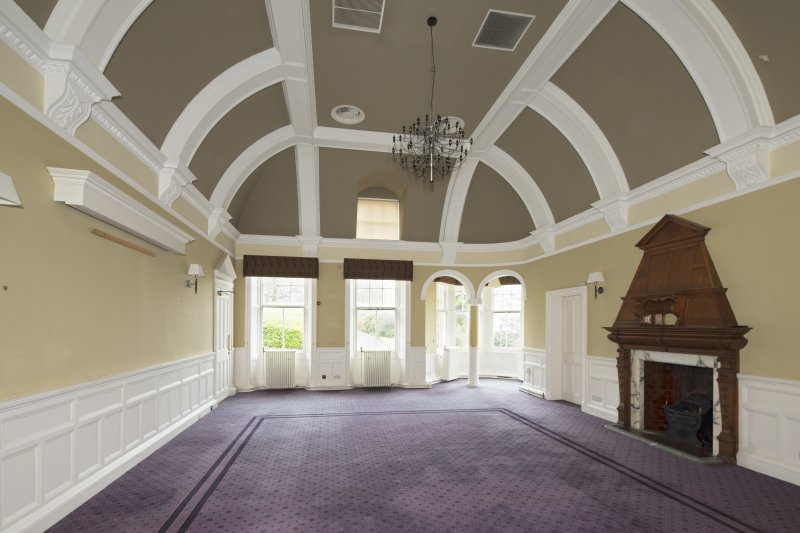 Level 3, north wing, south west dining room, view from east