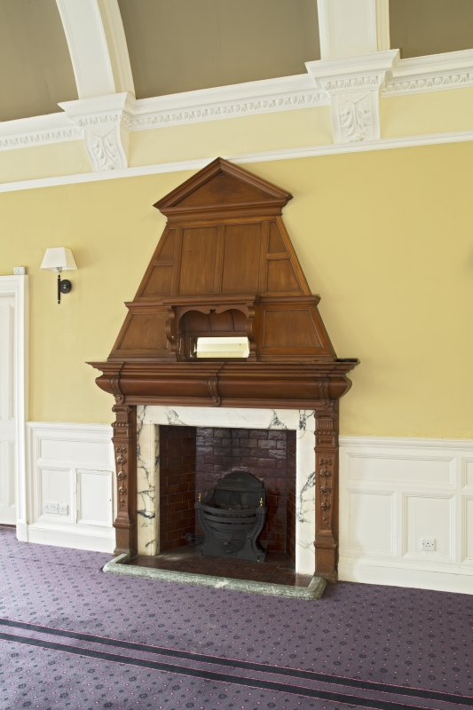 Level 3, north wing, south west dining room, view of fireplace