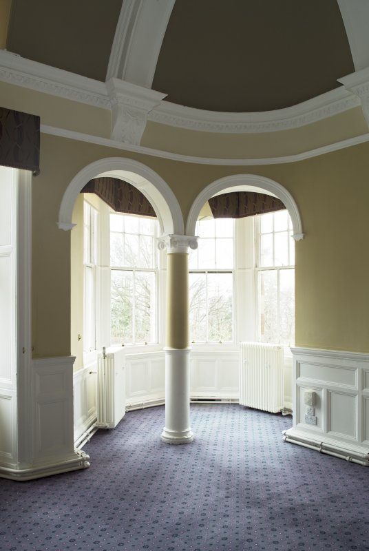Level 3, north wing, south west dining room, view of archways and turret in north west corner