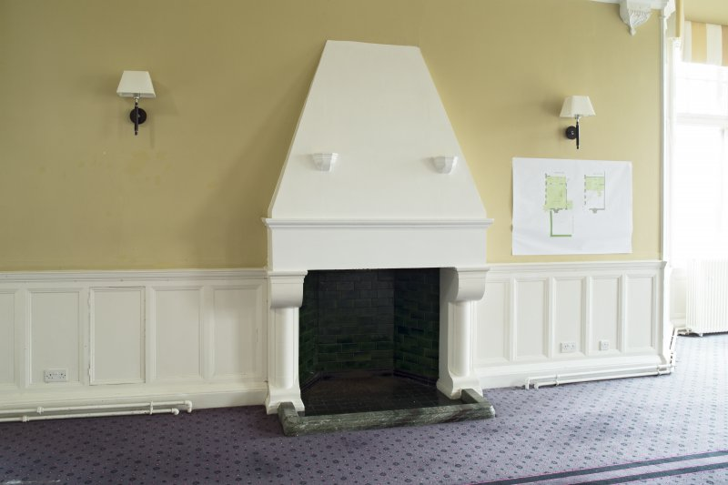 Level 3, north wing, north east dining room, view of fireplace