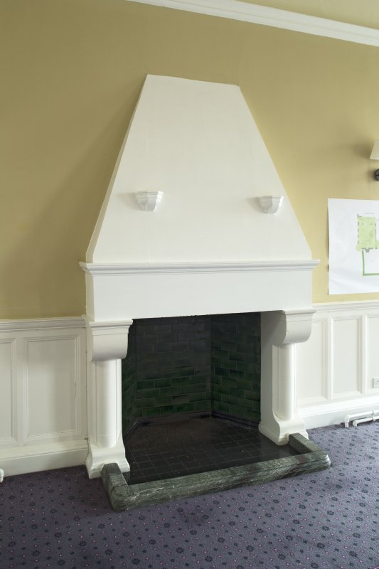 Level 3, north wing, north east dining room, detail of fireplace